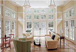 Natural light can be maximized with versatile window treatments