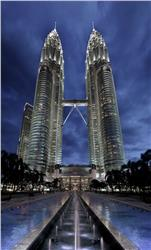 Petronas Towers Kuala Lumpur Malaysia, Second Tallest Building in The World