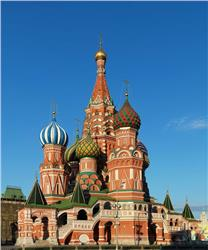 Saint Basil's Cathedral in Red Square Moscow Russia